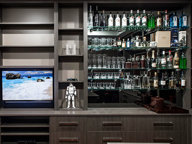 Custom designed bar