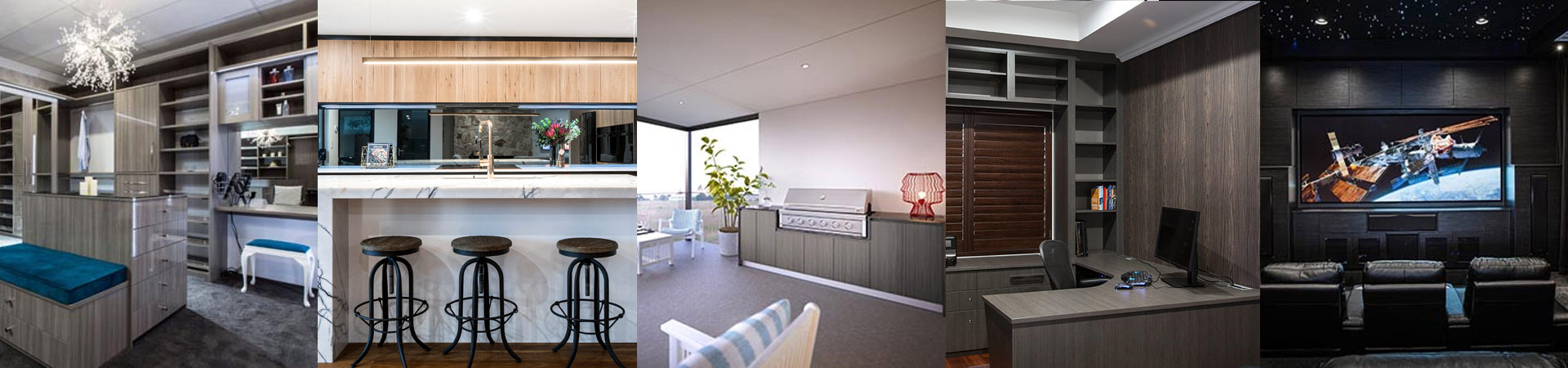 Custom Designed Wardrobes, Kitchens, Alfrescos, Home Offices and Theatres