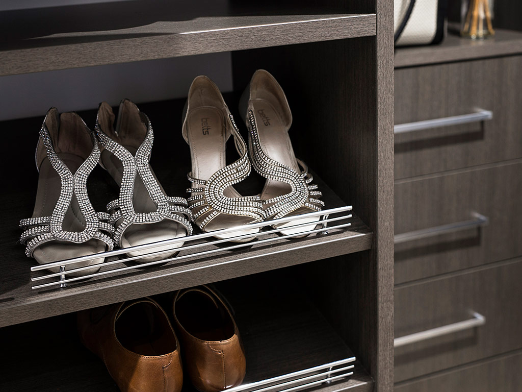 Shoe storage for your wardrobe